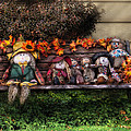Autumn - Family Reunion Print by Mike Savad