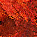 Autumn Fire Pano 2 Vertical Print by Andee Design