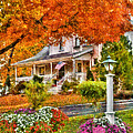 Autumn - House - The Beauty Of Autumn by Mike Savad