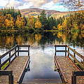 Autumn In Glencoe Lochan by Dave Bowman