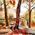Autumn Jon Boats II by Kip DeVore