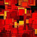 Autumn Modern Abstract Xv by Lourry Legarde