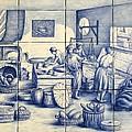Azulejo Portuguese Bakers Tile Mural by Julia Sweda