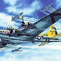 B-17g Flying Fortress A Bit O Lace by Stu Shepherd