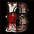 B For Bosox - Vintage Boston Poster by Joann Vitali