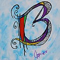 'b' Monogram by Joyce Auteri