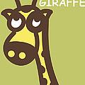 Baby Giraffe Nursery Wall Art by Nursery Art