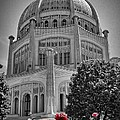 Bahai Temple Wilmette In Black And White by Rudy Umans