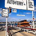Balboa Island Auto Ferry In Newport Beach California by Paul Velgos