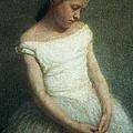 Ballerina Female Dancer by Angelo Morbelli