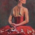 Ballerina With Mask by Anna Rose Bain