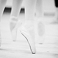 Ballet Students Demonstrating En Pointe Classical Technique At A Ballet School In The Uk by Joe Fox