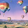 Balloons over San Dieguito Print by Mary Helmreich