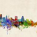 Baltimore Maryland Skyline by Michael Tompsett