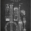 Banjo Patent Drawing From 1882 Dark by Aged Pixel