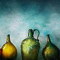 Bar - Bottles - Green Bottles  by Mike Savad