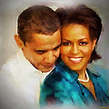 Barack And Michelle by Wayne Pascall