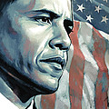Barack Obama Artwork 2 B by Sheraz A