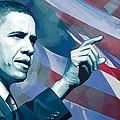 Barack Obama Artwork 2 by Sheraz A
