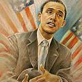 Barack Obama Taking It Easy by Miki De Goodaboom