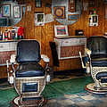 Barber - Frenchtown Nj - Two Old Barber Chairs  by Mike Savad