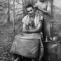 Barber - Wwii - Gi Haircut by Mike Savad