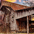 Barn At Sunset by Brett Engle