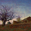 Barn On The Hill - Big Sky by R christopher Vest