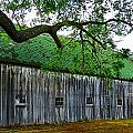 Barn With Brick Silo by Julie Dant