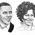 Barrack And Michelle Obama by Murphy Elliott