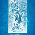 Bartholdi Statue Of Liberty Patent Art 1879 Blueprint by Ian Monk