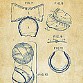 Baseball Construction Patent 2 - Vintage by Nikki Marie Smith