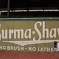 Baseball Field Burma Shave Sign by Frank Romeo