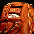 Baseball Glove With Ball by Danny Hooks