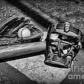Baseball Play Ball In Black And White by Paul Ward