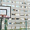 Basketball Court In A Social Neighbourhood by Luis Alvarenga