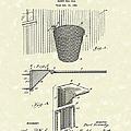 Basketball Hoop 1925 Patent Art by Prior Art Design