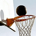 Basketball Hoop And Ball by Lanjee Chee