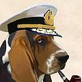 Basset Hound Seadog by Kelly McLaughlan