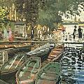 Bathers At La Crenovillere by Claude Monet