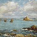 Bay Of Douarnenez by Eugene Louis Boudin