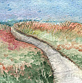 Beach Path Print by Linda Woods