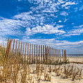 Beach Under Blue Skies by Debra and Dave Vanderlaan