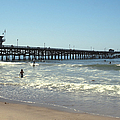 Beach View With Pier 2 by Ben and Raisa Gertsberg