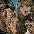 Beatles The Fab Four Print by Melinda Saminski