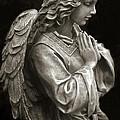 Beautiful Angel Praying Hands Christian Art Print by Kathy Fornal