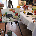 Behind The Scene - Eggplants And Fruits by Becky Kim