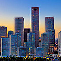 Beijing Central Business District by Fototrav Print