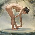 Bending Figure In Abstract by Paul Krapf