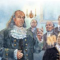 Benjamin Franklin At Albany Congress by Matthew Frey